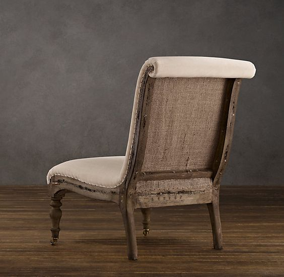 12 Awesome Décor Ideas For A Headstart On The Steampunk: Restoration Hardware's Deconstructed French Slipper Chair