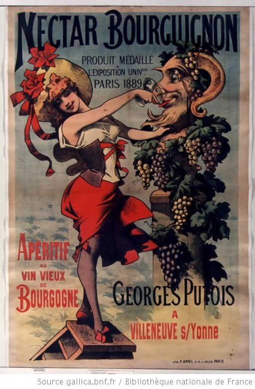 Nectar bourguignon... Apéritif au vin vieux de Bourgogne... Georges PUTOIS à Villeneuve s/Yonne . 1885