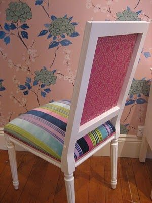 Striped dining chair from Anna Spiro