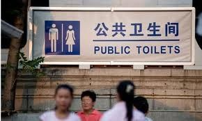 UNEDITED: Only two flies allowed in Chinese bathrooms at a time!