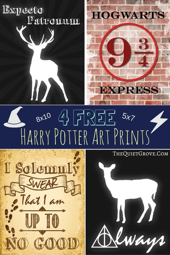 These free printables would look great in a distressed frame - great gift for Harry Potter fans of any age!