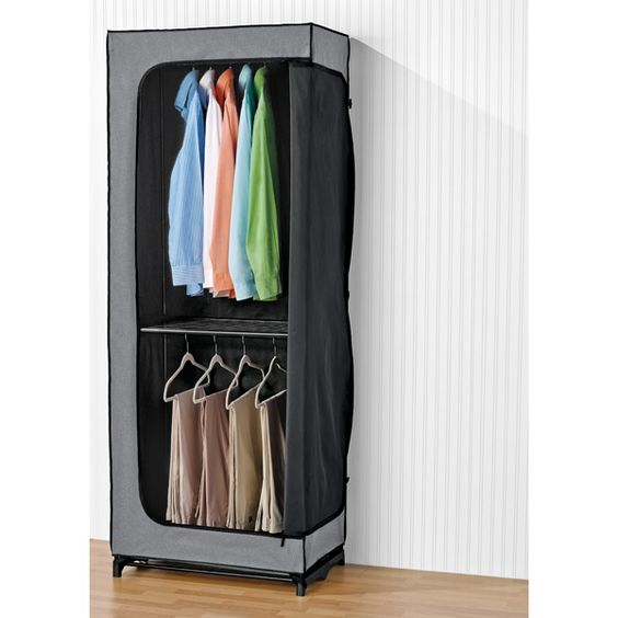 double hang clothes closet wardrobes home and garment racks
