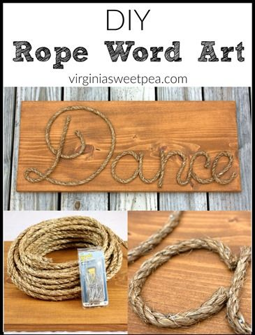 Diy rope word art make personalized art with rope get for Rope designs and more