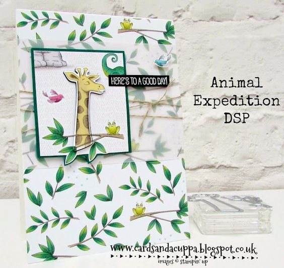 New! Animal Expedition Designer Series Paper