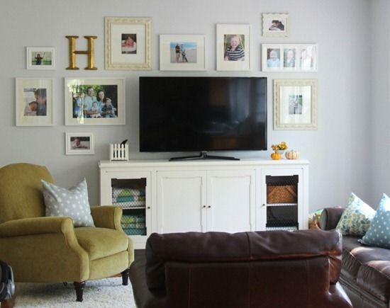 decorating around a flat screen tv