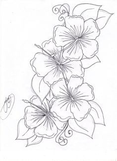 Hummingbird Hibiscus Tattoo Drawing | The Hibiscus Flowers Tattoo Pictures to Pin on Pinterest