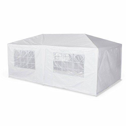 Alice S Garden Tente De Reception 3 X 6 M Aginum Blanc A Utiliser Comme Pavillon Pergola Chapiteau Ou Tonnelle En 2020 Tente Reception Pergola Tonnelle