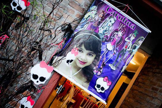 Monster High 8 Birthday Party via Idéias do partido de Kara |. Kara'sPartyIdeas com # monstro # alta # birthday party (45)