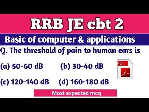 Rrb Je Cbt2 Classes Mcq Basic Of Computer Most Important Mcq