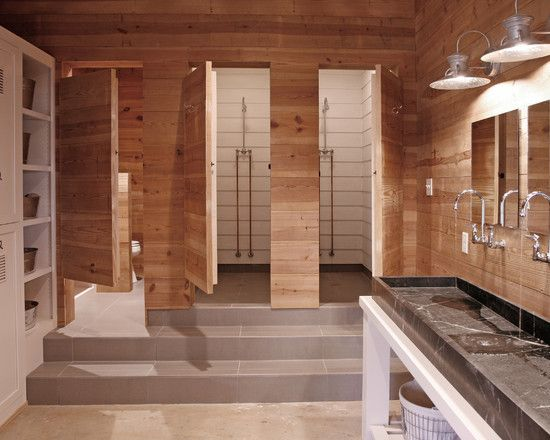 Locker room design pictures remodel decor and ideas for Gym bathroom ideas