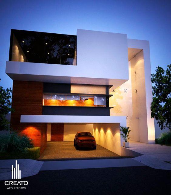 Casa villa verona fachada principal jalisco m xico creato - Arquitectos casas modernas ...