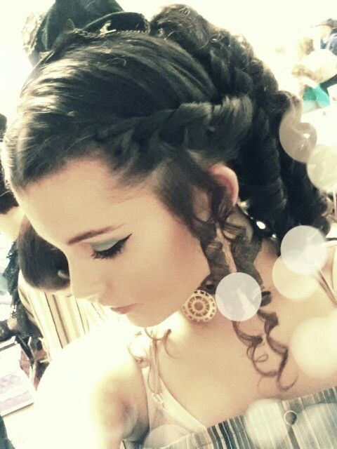 My hair for my show.:)
