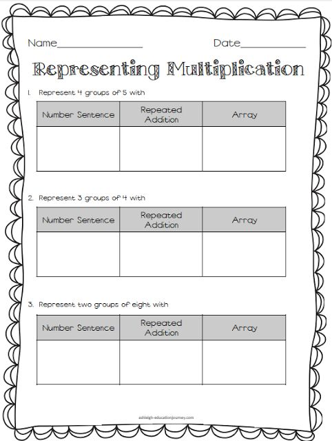 Multiplication  Division Freebies  Math  Multiplication