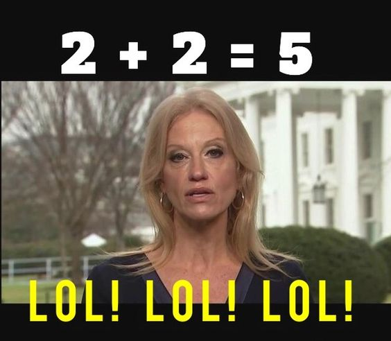 kellyanne conway pathological liar: Her ability and those of many of Trump's people to utter complete nonsense with complete confidence,and then broadly smile is remarkable.: