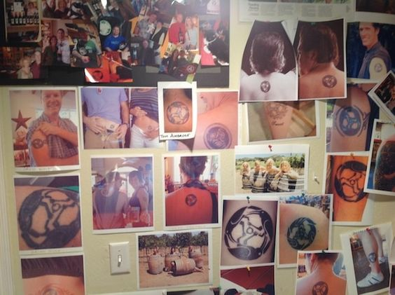 Tattoo wall at Ravenswood Winery, Sonoma