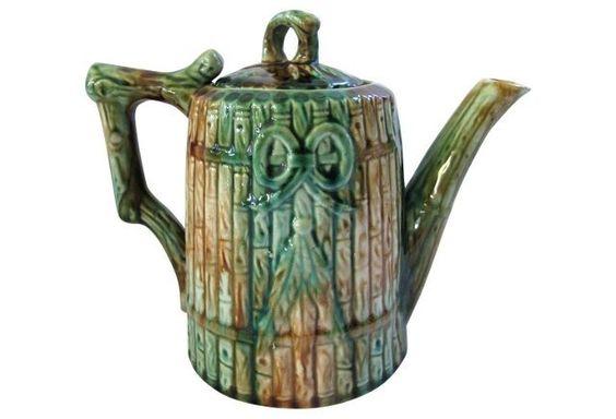 English Majolica Teapot