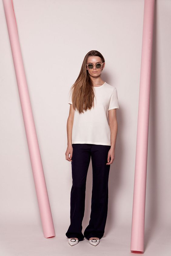 Our signature silk tee is back for SS16 in new seasonal colours. Side panels inserted to allow for the perfect, snug fit across the bust, avoiding the boxy feel that you get with other silk tees. A small and intricate embroidery sits at the back nape of the neck, making this tee that bit more...  Read more »