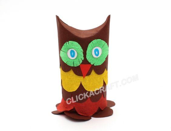 Cardboard toilet paper roll owl podzimn tvo en s d tmi for Toilet paper tube owls
