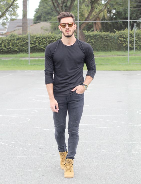 Outfit Men Fashion Men All black Nike - www.rodrigoperek.com | chaquetas -) | Pinterest ...