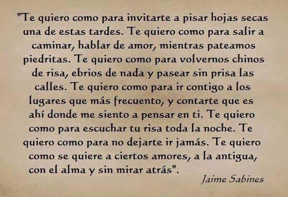 Te quiero de Jaime Sabines pic.twitter.com/zePFgOuG40