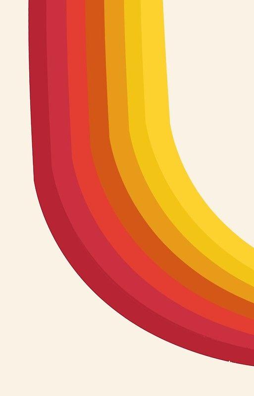 Vintage Style Minimalist Rainbow Iphone Wallpaper