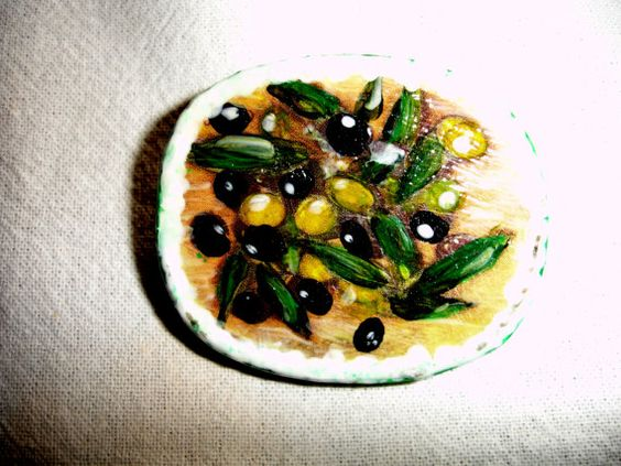 Gorgeous colourful  luscious Tuscany olives brooch by Thesnowrose, €9.00