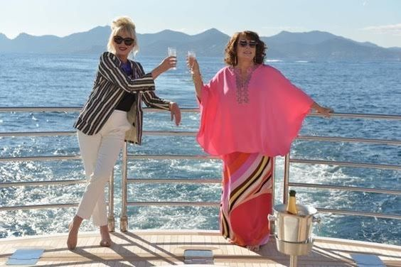 """Hey parents, watch out - Ab Fab is back and this time - on the silver screen"" Here's the first press shot for the movie, which has just started filming in the South of France. 