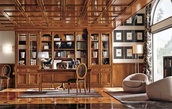 Amazing A Wood Paneled Office / Den Of Approximately 17 X 14 Feet Features Built In  Bookcases And Views Of The Grounds And Surrounding Hills To The South Au2026