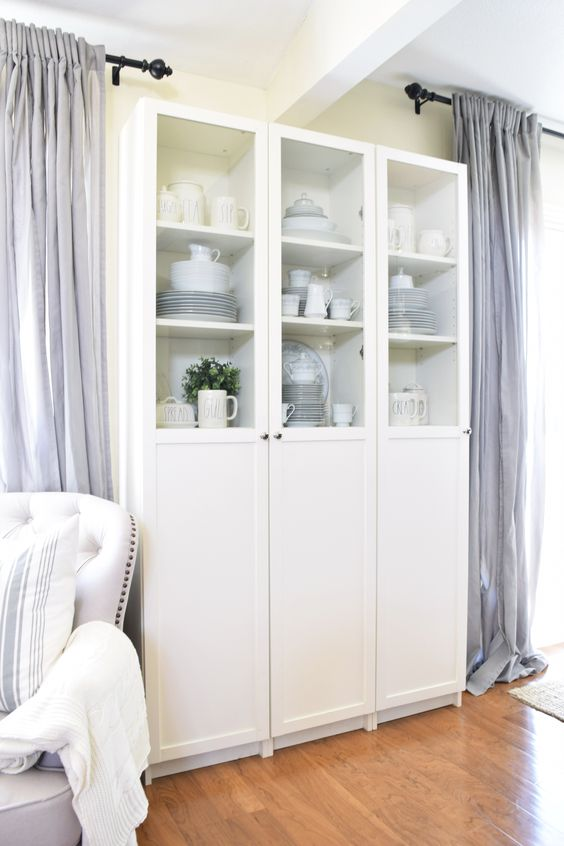 Our Affordable Ikea Hacked Repurposed China Cabinet Repurposed China Cabinet Ikea China Cabinet China Cabinet