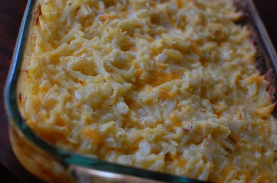 Hash brown casserole like Cracker Barrel makes it.