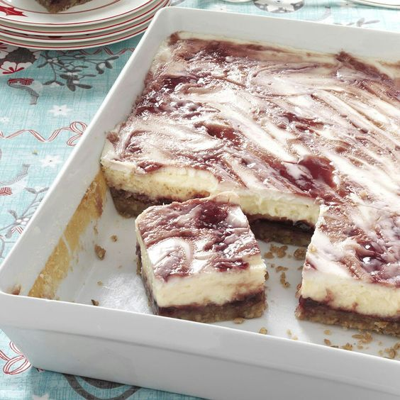 Rasberry cheesecake bars