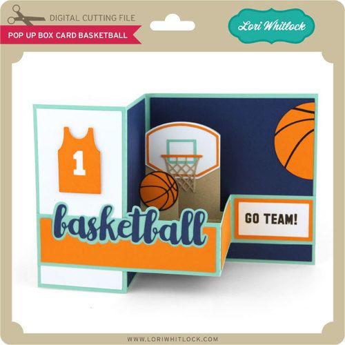 Pop Up Box Card Basketball Pop Up Box Cards Basketball Birthday Cards Cards