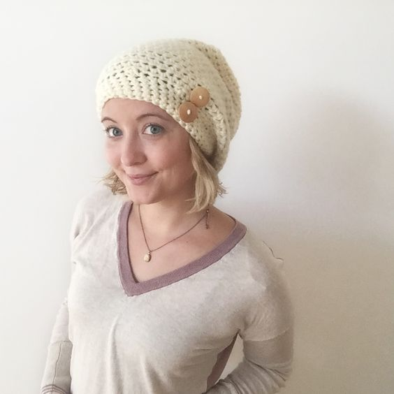 Crochet Slouchy Hat Patterns For Beginners Free : Beginner crochet, Free crochet and Hats on Pinterest