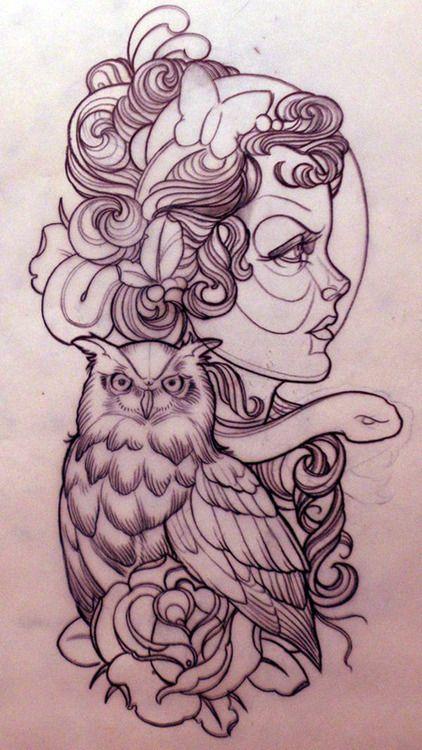 Tattoo design. #tattoo #tattoos #ink owl