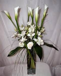 arrangement large arrangement of white calla lilies white roses and ...