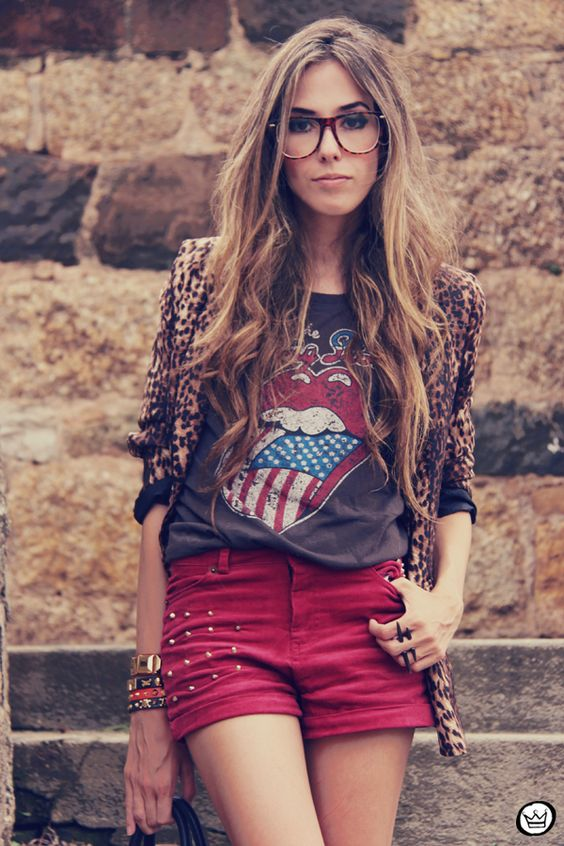 FashionCoolture - 16.01.2012 look du jour Romwe Awwdore Asos Kafé burgundy leopard blazer studded bag (2)