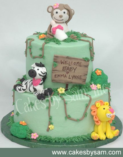 Baby Shower Zoo Cakes ~ Zoos jungle theme and zoo animal cakes on pinterest