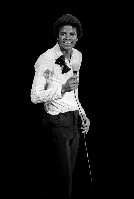 Michael Jackson (1958 - 2009), posing during a break at his concert in Nassau Coliseum, NY, 1980. (Photo by Andy Freeberg/Getty Images)