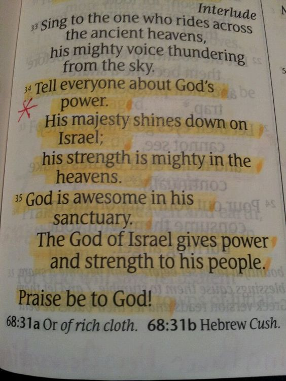 PSALM 68: 34, 35 - TELL EVERYONE ABOUT GOD'S POWER || I'm not perfect, but I want to tell everyone about my perfect God <3