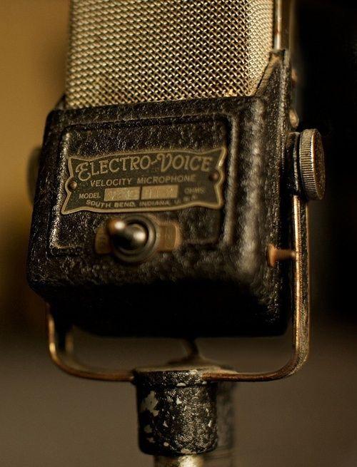 Electro Voice - Vintage Microphone ( audio / antique / recording )