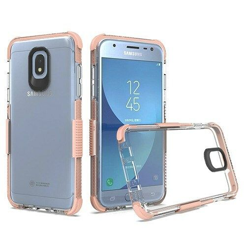 Airium Bumper Sturdy Candy Skin Cover For Samsung J337 Galaxy J3 2018 Transparent Clear Rose Gold Cases Co In 2021 Samsung Galaxy Samsung Galaxy J3 Galaxy J3