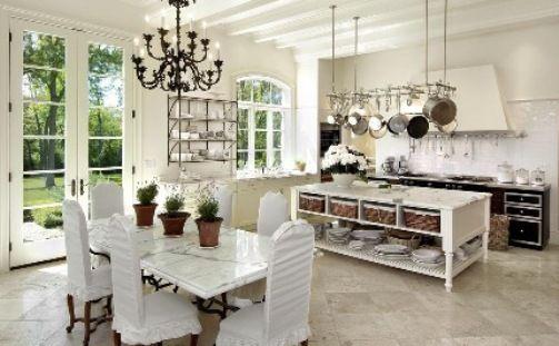 white marble top kitchen table