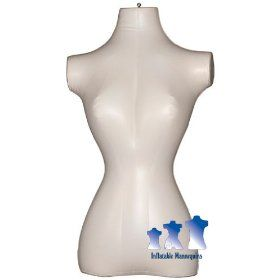 """Inflatable Mannequin, Female Torso, Standard Size Ivory :     Price: $18.95          Female inflatable mannequins work well for display ofwomen's size5 to 7light to medium weight clothing, although it will accommodate larger clothing depending on the style. The torso has two 7/8"""" holes in the base for placement on a tabletop stand or an elevated stand. ....Check Price : http://gethotprice.com/appin/?t=B003YH16K4"""