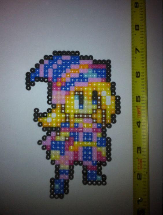 Bead sprite  Dark Magician Girl  YuGiOh by 2nerdsonacouch on Etsy, $6.25