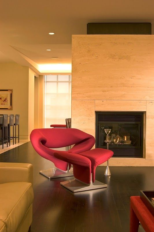 We Could Easily Curl Up In Front Of The Fire On A Libel Chair! | 摩登场景图 |  Pinterest | House