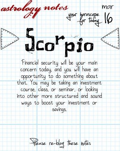 Scorpio Astrology Note: Hey Scorpio, follow us for horoscopes every day!