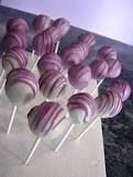 Cake pops in purples and blues