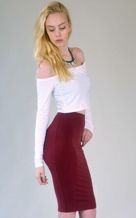Loving this Donna Mizani Midi Skirt available at beauxx.com