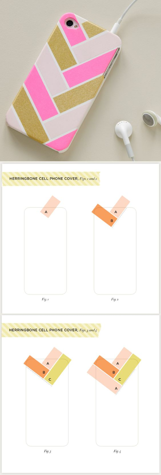 Tuis ruban adh sif washi and t l phones on pinterest for Washi tape phone case