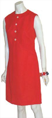 Red 60s Gogo Vintage Dress